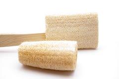 Massage sponges. On white background Royalty Free Stock Images
