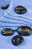 Massage stone Stock Images