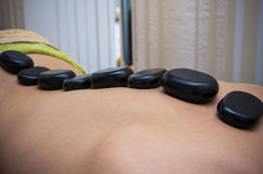 Massage and stone therapy Stock Image