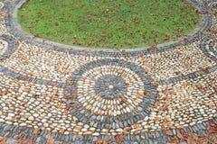 Massage stone walkway texture Stock Photo