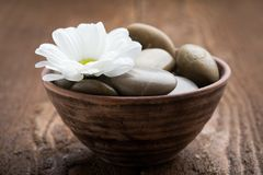 Massage stones Stock Photo