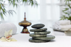 Massage stones from jade Royalty Free Stock Images