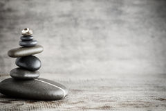Massage stones put in the form of a pyramid Royalty Free Stock Image
