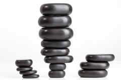 Massage stones. Spa salon massage stones for the treatment of spins royalty free stock photography