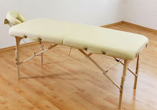 Massage table stock image