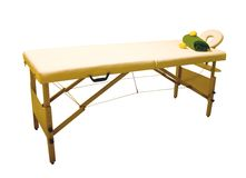 Massage table Royalty Free Stock Photo