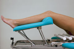 Massage table Royalty Free Stock Photography