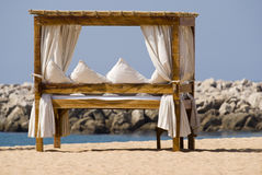 Massage Table on Beach Stock Images
