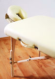 Massage table detail Royalty Free Stock Photos