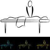 Massage Table. An image of people at a massage table vector illustration
