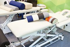 Massage tables royalty free stock photos