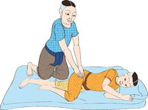 Massage2 tailandés Imagen de archivo