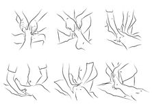 Massage technics Stock Photo