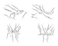 Massage technics Royalty Free Stock Image