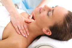 Massage temples Royalty Free Stock Photography