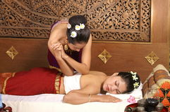 Massage thaï sain Photographie stock