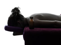 Massage therapist  silhouette Royalty Free Stock Photo