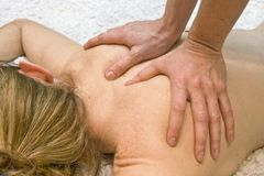 Massage therapy Royalty Free Stock Image
