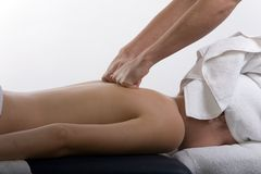 Massage therapy Royalty Free Stock Photo