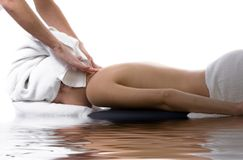 Massage therapy Stock Photography
