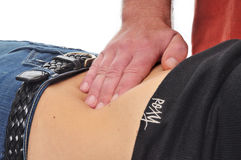 Massage therapy. Alternative treatment health Royalty Free Stock Image