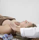 Massage therapy Stock Image