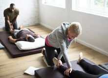 Health Wellness Massage Training Concept royalty free stock images