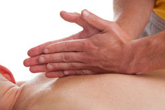 Massage therapy in sport Stock Photos