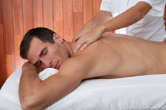 Massage time Stock Photos