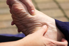 Massage to the foot Stock Photography