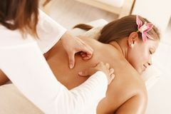 Massage treatment Royalty Free Stock Photos