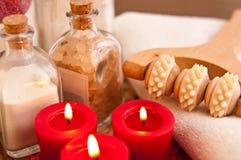 Massage treatment stock image