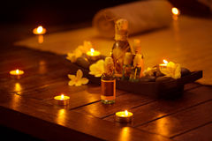 Massage treatment products Royalty Free Stock Photography