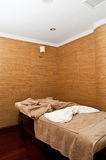 Massage treatment room. In a spa hotel Royalty Free Stock Photo
