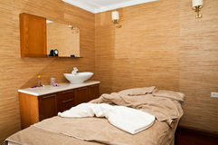 Massage treatment room. In a spa hotel Royalty Free Stock Photos