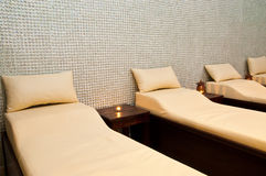 Massage treatment room. In a spa hotel Stock Image