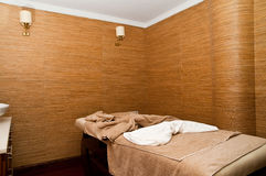 Massage treatment room. In a spa hotel Royalty Free Stock Photography