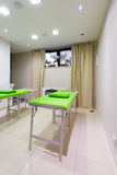 Massage treatment room in beauty healthy spa salon. Interior of massage treatment room in beauty healthy spa salon. Luxury relax therapy Royalty Free Stock Photos