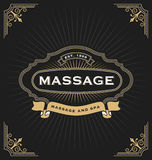 Massage und Badekurort-Fahnen-Design Stockbild