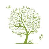 Massage und Badekurortkonzept, Kunstbaum für Ihren Entwurf Stockbild