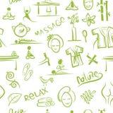 Massage und Badekurortkonzept, nahtloses Muster für Ihr Stockbild