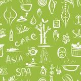 Massage und Badekurortkonzept, nahtloses Muster für Ihr Lizenzfreie Stockfotos