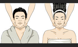Massage Vector - Man/Woman Royalty Free Stock Image