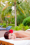 Massage At Villa Royalty Free Stock Image