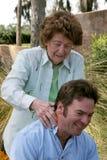 Massage von der Mamma Lizenzfreies Stockbild