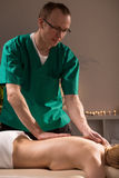 Massage in wellness centre Royalty Free Stock Images