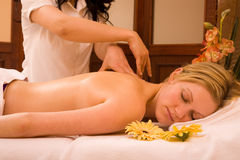 Massage woman Stock Photography