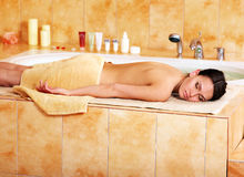Massage of woman in beauty spa. Stock Photography