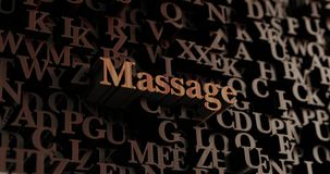 Massage - Wooden 3D rendered letters/message Stock Photos