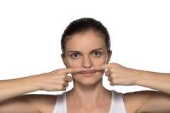 Massage, Yoga, Gymnastik oder das Verjüngen trainiert für das Gesicht Stockfotografie